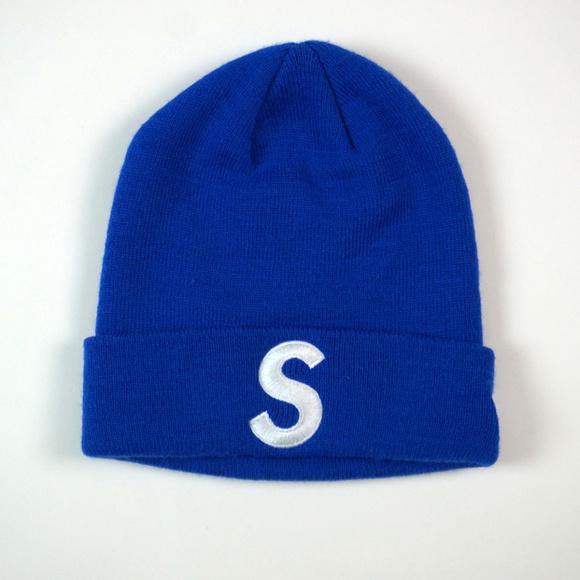 875b481a047 Supreme S Logo Winter Knit Hat Royal Blue. M 5c76fd7a8ad2f9e8c7fe94b0